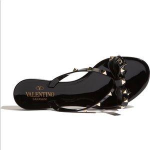 Valentino Garavani Rockstud PVC Thong Sandal